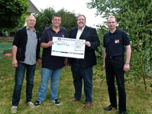 Spendenübergabe in Lykershausen